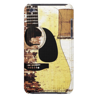 acoustic guitar on brick collage iPod touch Case-Mate case