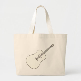 Acoustic Guitar, outline art drawing bags