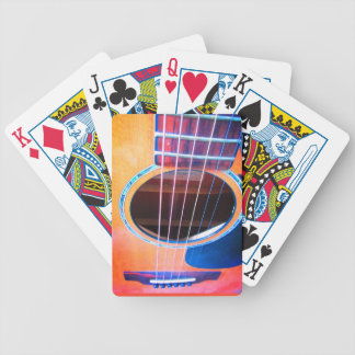 Acoustic Guitar Perspective Colors of Music Bicycle Playing Cards