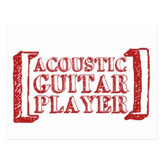 Acoustic Guitar  Player Postcard