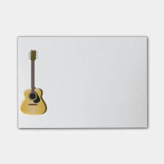 Acoustic Guitar Post-it Notes