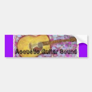 Acoustic Guitar Sound Bumper Sticker