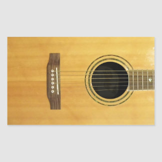 Acoustic Guitar Rectangle Stickers
