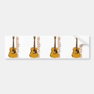 """Acoustic Guitar """"The Auditorium Bumper Sticker"""