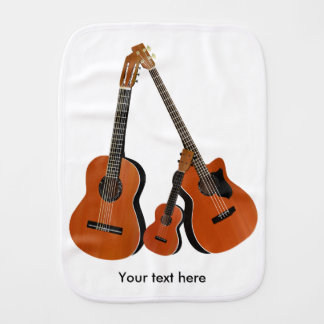 Acoustic Guitar Ukulele and Acoustic Bass Burp Cloth