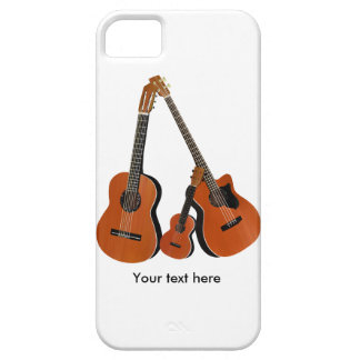 Acoustic Guitar Ukulele and Acoustic Bass iPhone 5 Cover