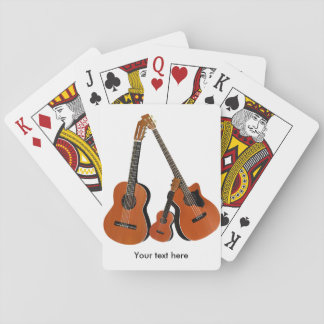 Acoustic Guitar Ukulele and Acoustic Bass Playing Cards