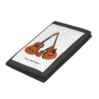 Acoustic Guitar Ukulele and Acoustic Bass Tri-fold Wallets