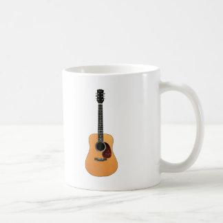 Acoustic Guitar vertical Coffee Mugs