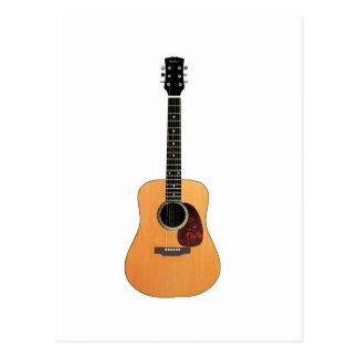 Acoustic Guitar vertical Postcard