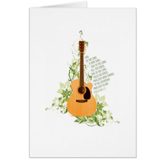 Acoustic Guitar with Psalm Card