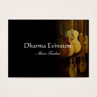 Acoustic Guitars Business Card