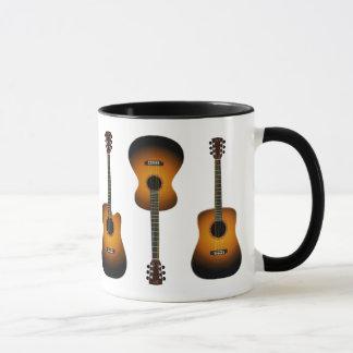 acoustic guitars ceramic mug