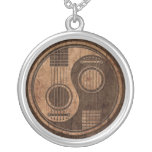 Acoustic Guitars Yin Yang with Wood Grain Effect