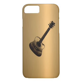 Acoustic-Style Guitar Bronze Copper Effect iPhone 8/7 Case