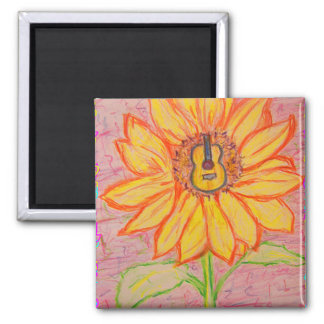 Acoustic Sunflower Magnet
