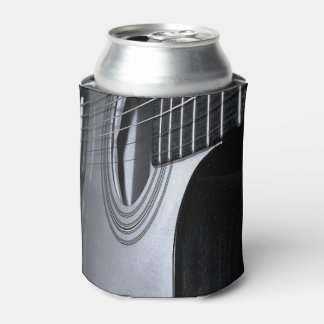 Acoustical Guitar (black and white) Can Cooler