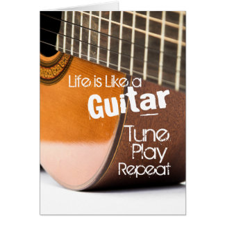 Acoustical Guitar Quote Card