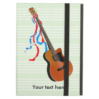 Acoutic Bass Guitar Music Pattern iPad Air Cover