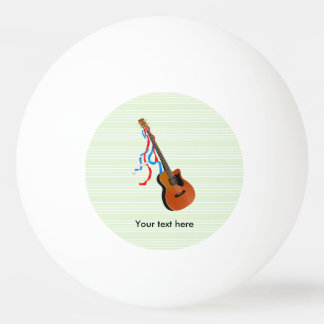 Acoutic Bass Guitar Music Pattern Ping Pong Ball