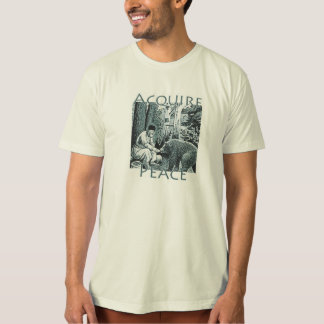 Acquire Peace -St. Seraphim of Sarov and Bear T-Shirt