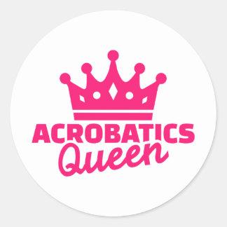 Acrobatics Queen Classic Round Sticker
