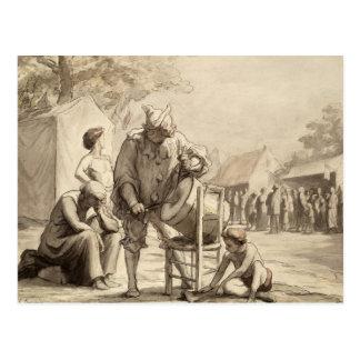 Acrobats at the Fair c.1865-69 Postcard