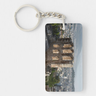 Acropolis Ancient ruins overlooking Athens Double-Sided Rectangular Acrylic Key Ring
