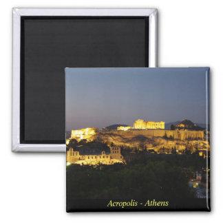 Acropolis - Athens Square Magnet