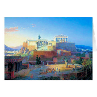 Acropolis in Greece Greeting Card