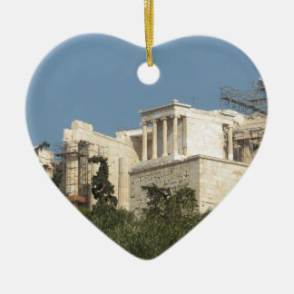 Acropolis of Athens Architecture Of Ancient Greece Ceramic Heart Decoration