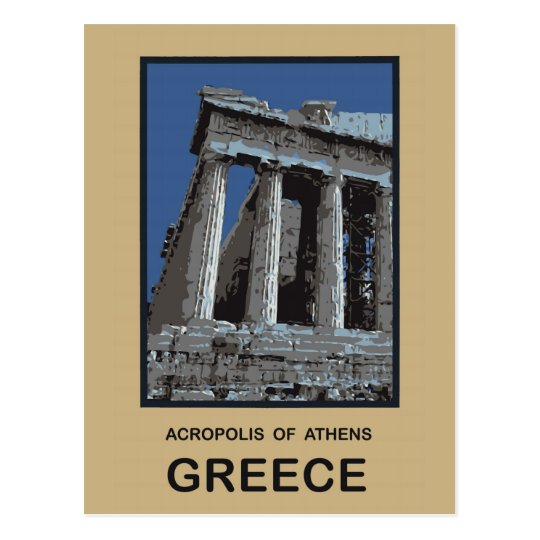 Acropolis of Athens Greece Postcard