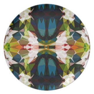 Across The Bridge Geometric Pattern Melamine Plate
