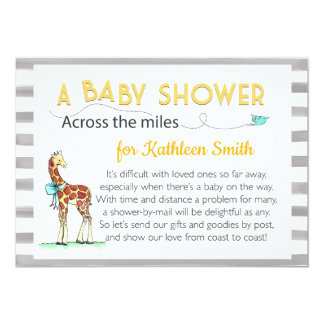 Across the Miles Baby Shower Card