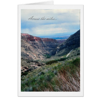 Across the Miles, Big Horn Mountains in Wyoming Card