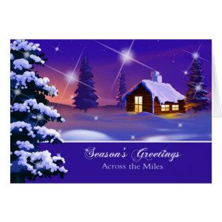 Across the Miles. Customizable Christmas Card