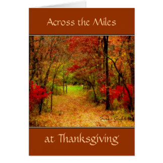 Across The Miles Thanksgiving Card