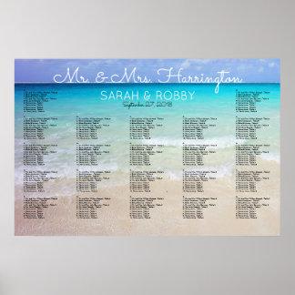 Across the Sea Horizon Wedding Seating Chart