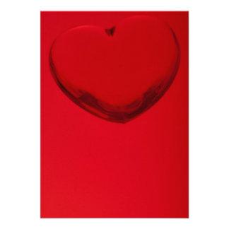 Acrylic heart shape miniature custom invitations