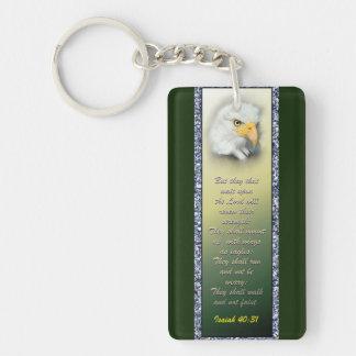 Acrylic Keychain Scripture Eagle
