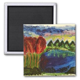 Acrylic landscape magnet