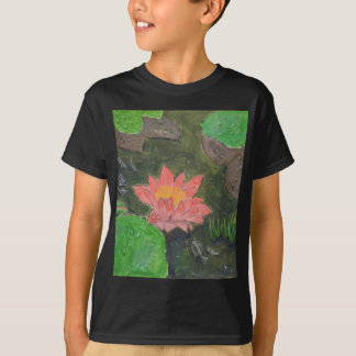 Acrylic on canvas, pink water lily flower T-Shirt