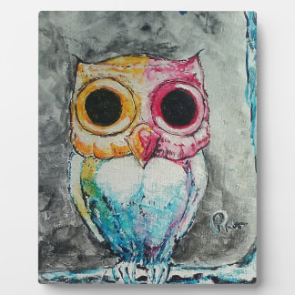 Acrylic Owl Plaque