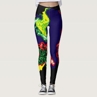 Acrylic paint leggings
