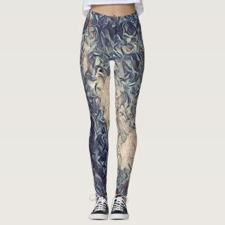 Acrylic Paint Rave Love Leggings