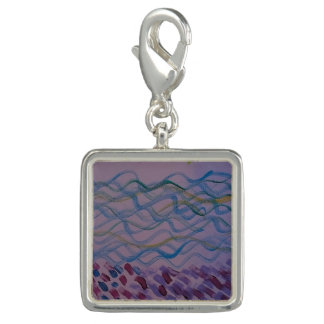 Acrylic Painting of Water - Charm for Bracelet
