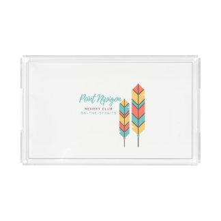 Acrylic Rectangular Nipigon Feathers tray