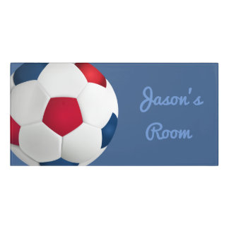 Acrylic Room Sign-Soccer Ball Door Sign