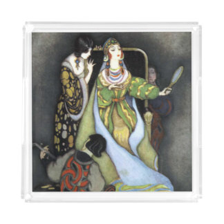 Acrylic Tray Dark Fairy Tale Queen Vintage Art