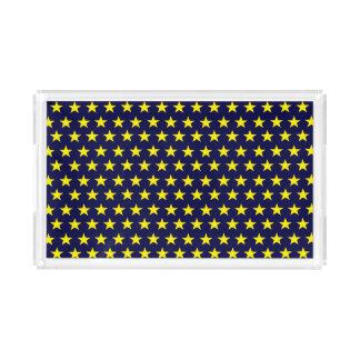 Acrylic tray night-blue with yellow stars